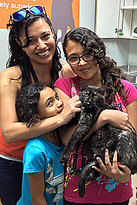 Cindy the cat who has the feline immunodeficiency virus is adopted