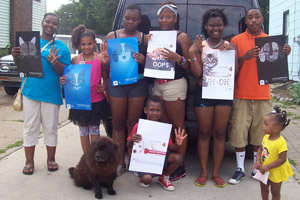 Michigan Animal Adoption Network kids promoting Fix At Four