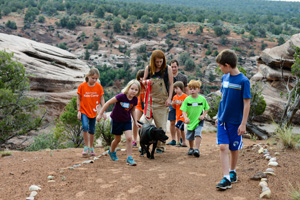 Geneva is one of three lucky Dogtown dogs who go on regular hikes with the Best Friends Kids Camp