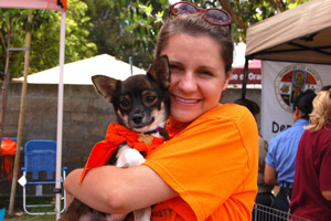 Emma and Lily at the Irvine Pet Super Adoption Event