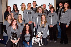 NKUT launch party with the Best Friends Utah staff and a few dogs