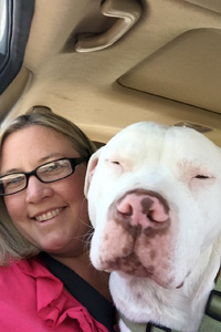 Bobo the pit bull terrier and Mary