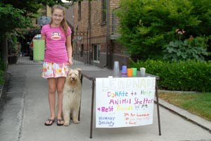 Natalie and her lemonade stand
