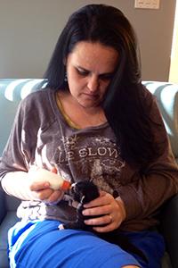 Foster mom Sara with Flo Rida