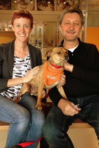 Brando with his new family