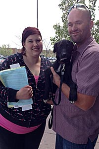 Justice the neutered dog adopted from Roosevelt Animal Shelter