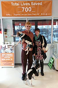 Actor Reid Ewing adopts Maggie the dog