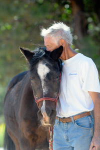 Volunteer at Best Friends Dan Lichtenstein with True the horse