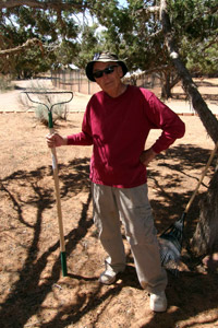 Volunteer Fred Winchester ready to weed